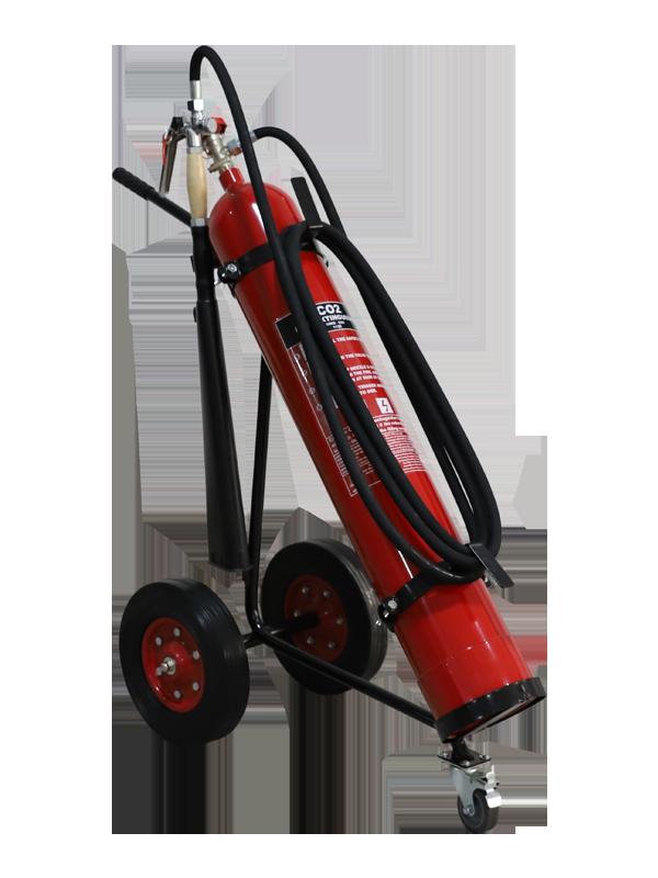 EN1866-1 10kg(2x5kg) Mobile CO2 Fire(alloy-steel)