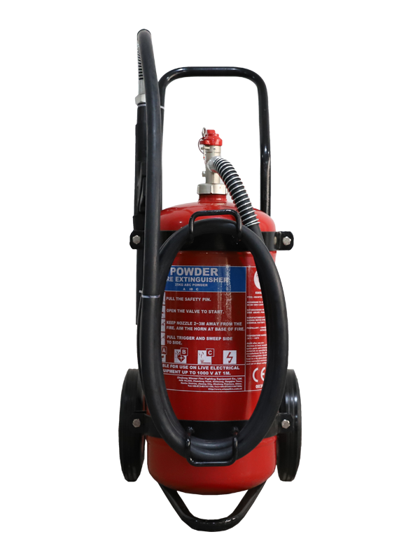 EN1866-1  25kg Mobile Dry Powder Fire Extinguisher