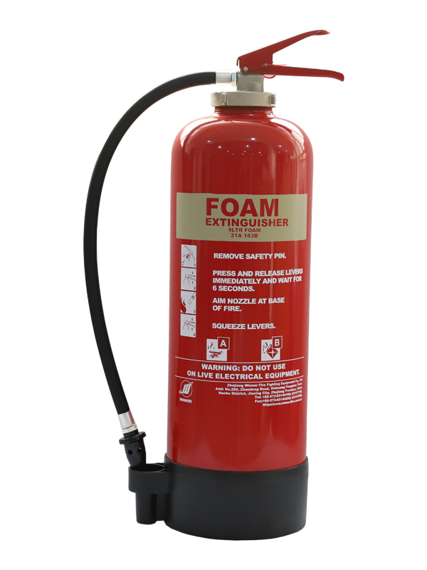 MED Approval 6L Portable Foam Fire Extinguisher(With Internal Cartridge)
