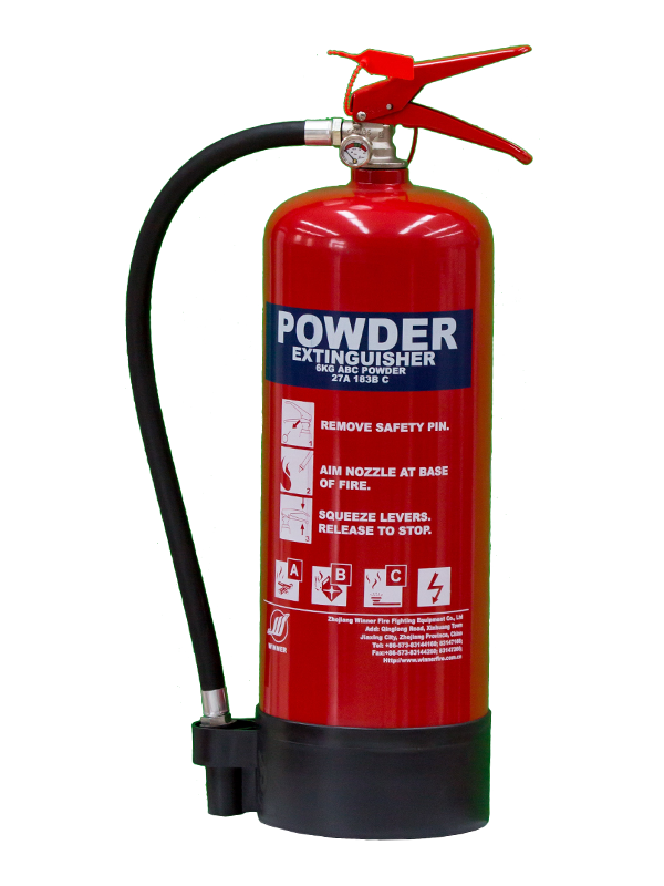 MED Approval 6kg Portable Dry Powder Fire Extinguisher(ABC40%)