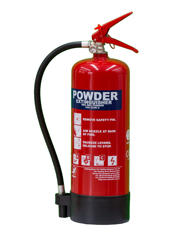 MED Approval 6kg Portable Dry Powder Fire Extinguisher(ABC85%)