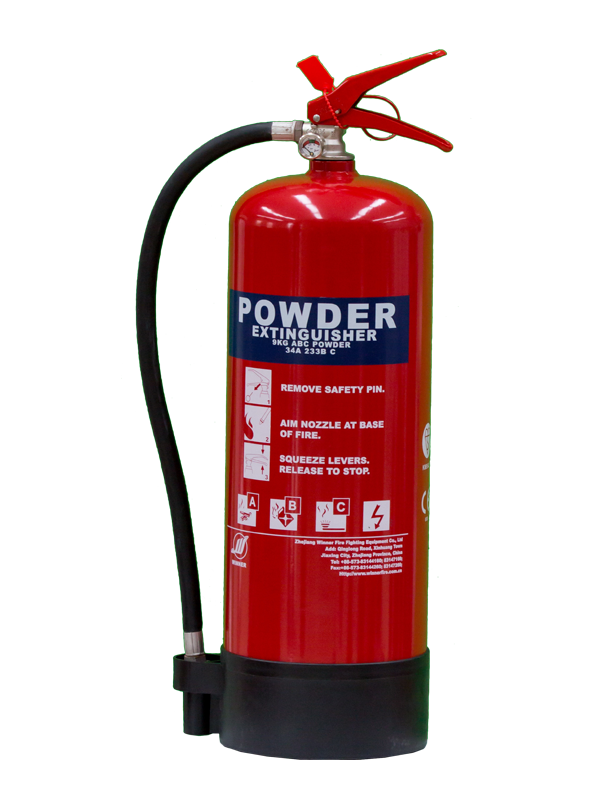 MED Approval 9kg Portable Dry Powder Fire Extinguisher(ABC40%)